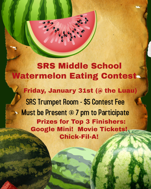 Flyer for watermelon-eating contest