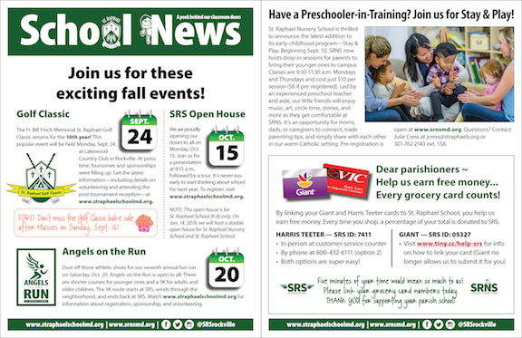Aug. 26 School News