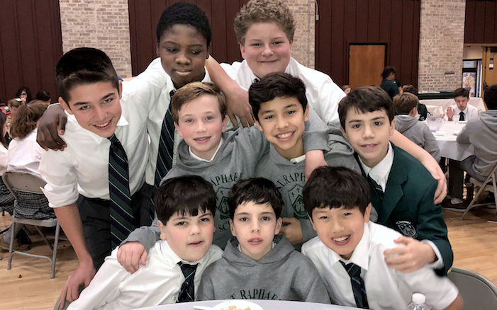 SRS middle-school boys group photo