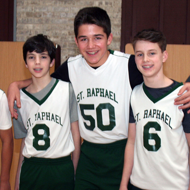 CYO basketball players