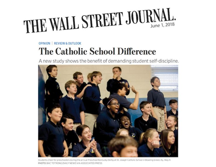 WSJ Editorial Touts Catholic Education