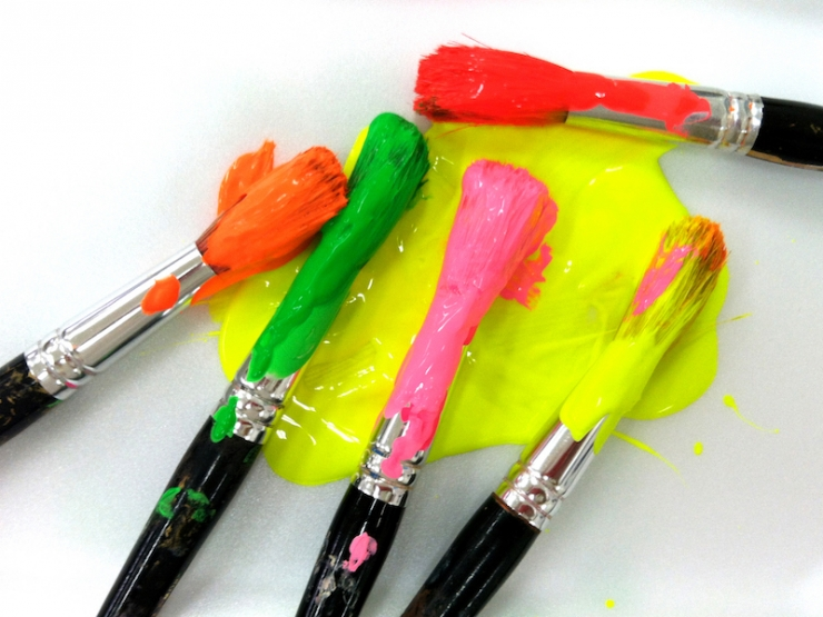 colorful paintbrushes