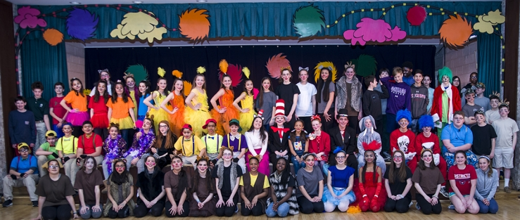 "The cast and crew from ""Seussical"""